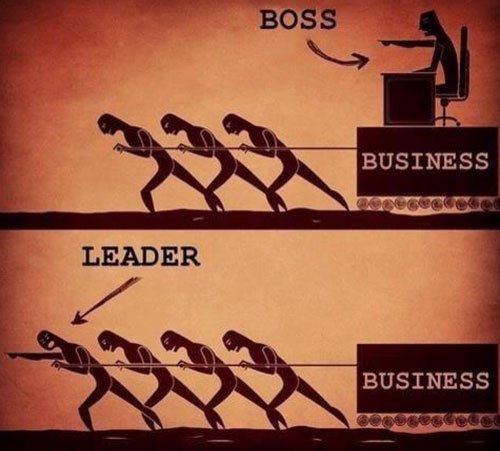 boss versu leader
