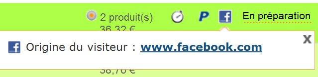 vente facebook